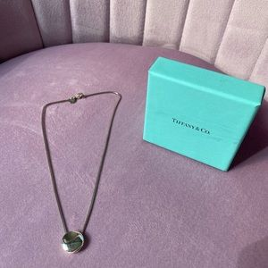 "Tiffany ""J"" initial necklace"